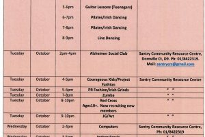 Out & About Community Events North West Area (Finglas, Ballymun & Cabra) October 2018